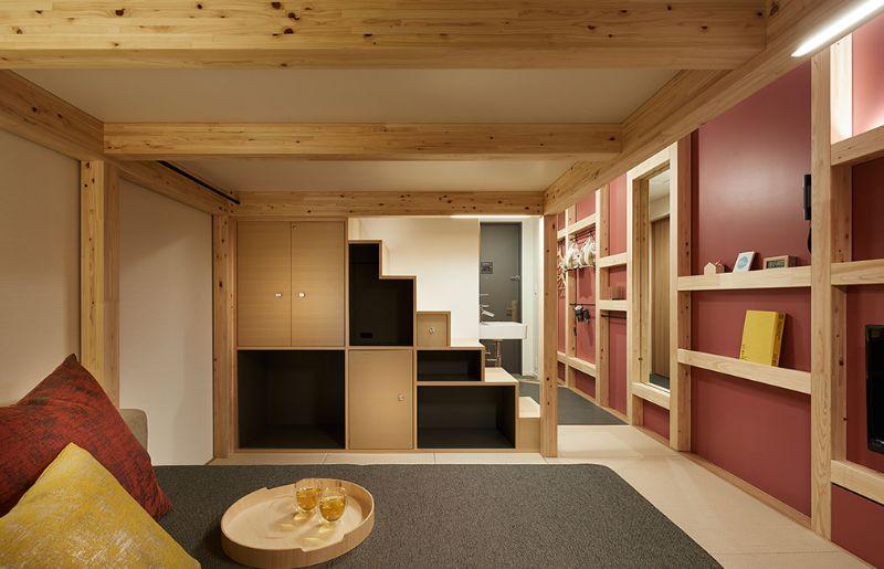 部屋はすべて縦空間を有効活用した「YAGURA room」
