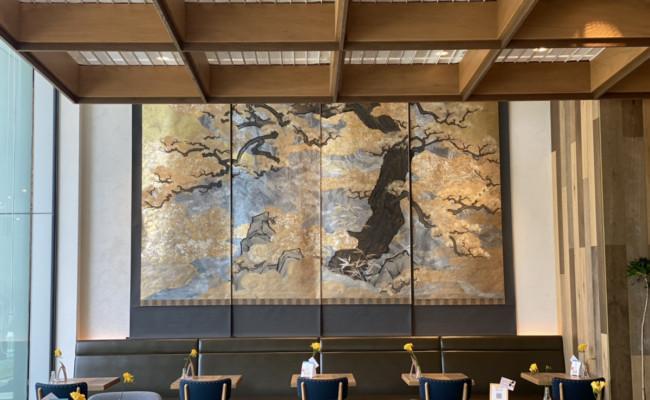 【期間限定】eightdays diningに掛軸『西行桜』を展示しました