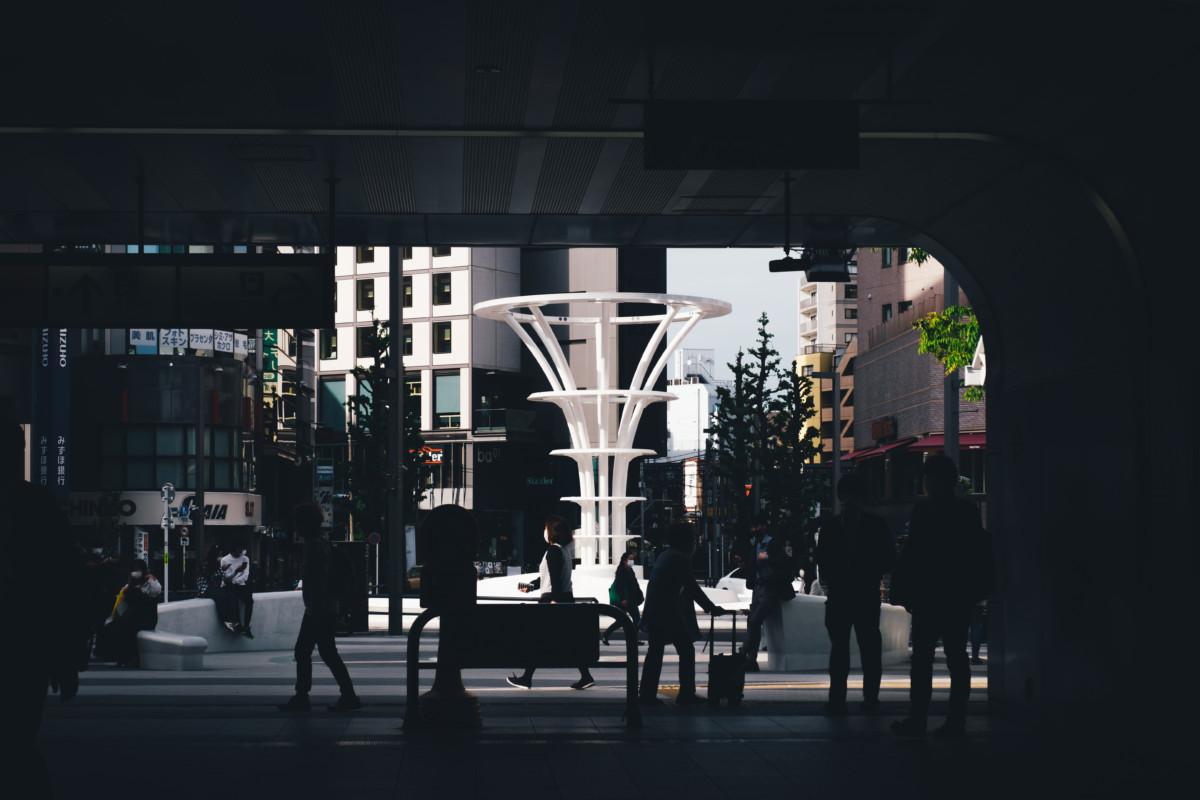 大塚駅からironowa hiro baを見る